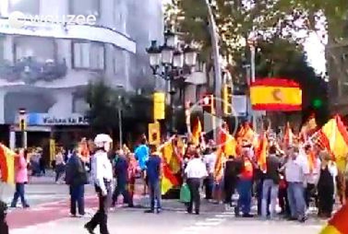 38.000 personas se concentran a favor de que Cataluña siga unida a España