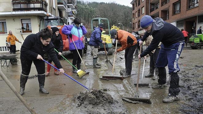 Los daños materiales por las inundaciones en Zalla ascienden a casi tres millones de euros
