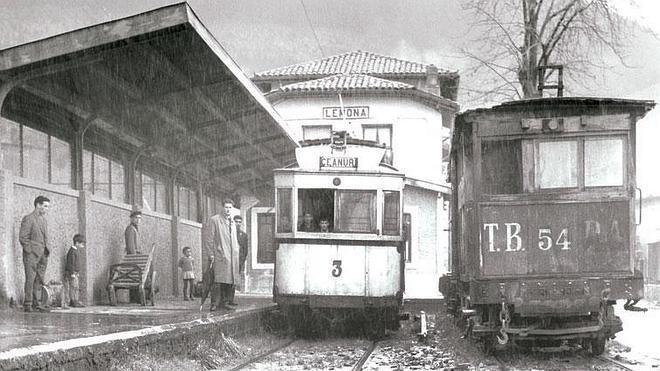 El tranvía de Arratia vuelve a Lemoa medio siglo después
