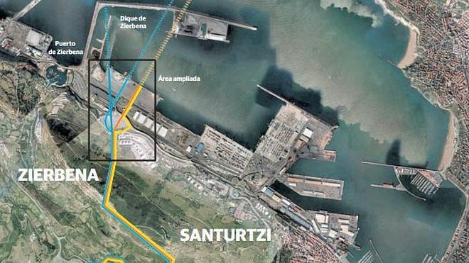El Supremo anula el acuerdo foral para el deslinde entre Santurtzi y Zierbena por el Superpuerto