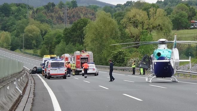 Sufre la amputación de un brazo el herido en el accidente de la AP-8 en Iurreta