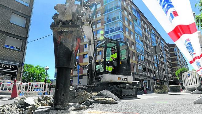 Comienzan las obras de la calle Aragón