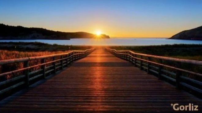 Gorliz, una puesta de sol de postal