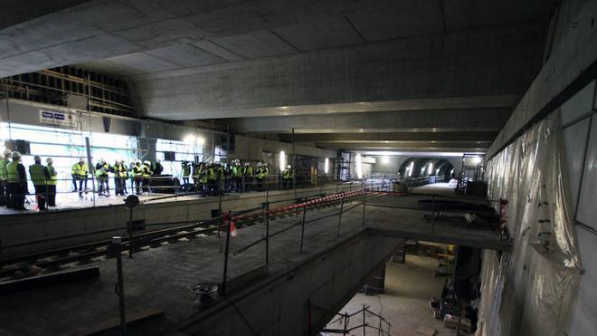 La estación del Casco Viejo, «el corazón del metro», encara la recta final