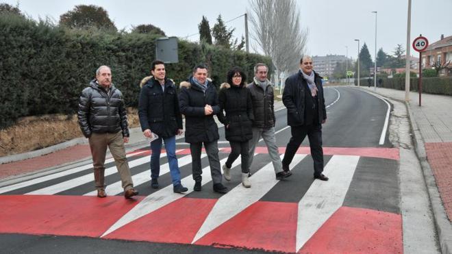 En San Millán se completa la mejora de los accesos a Haro, según Cuevas