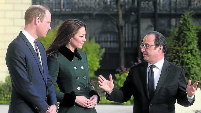 Los duques de Cambridge inician su visita a París