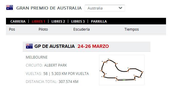 GP F1 Australia 2017 directo: horarios y clasificaciones de entrenamientos en Albert Park online