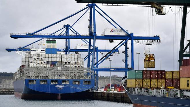 El mayor portacontenedores de la historia del Puerto de Bilbao
